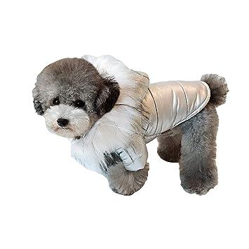 QJKai Ropa para Perros Ropa de Invierno Cachorro Capa de Perro Gruesa Ropa cálida para Mascotas: Amazon.es: Jardín