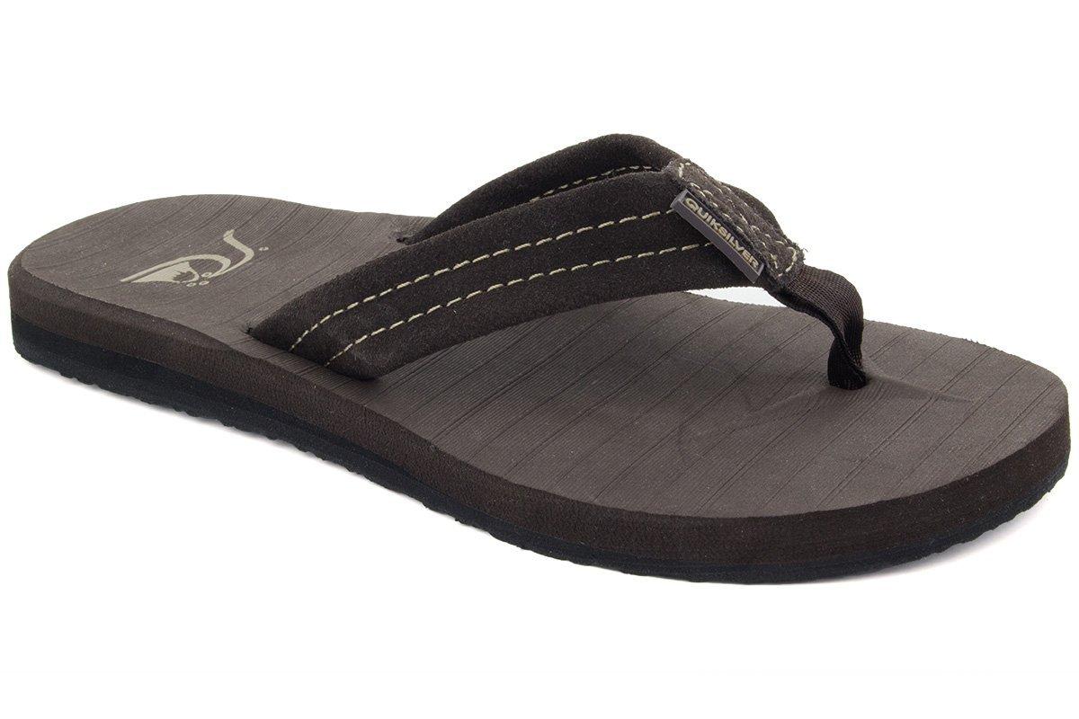 Quiksilver Men's Carver Suede 3-Point Flip-Flop Quiksilver Footwear CARVERSud-M