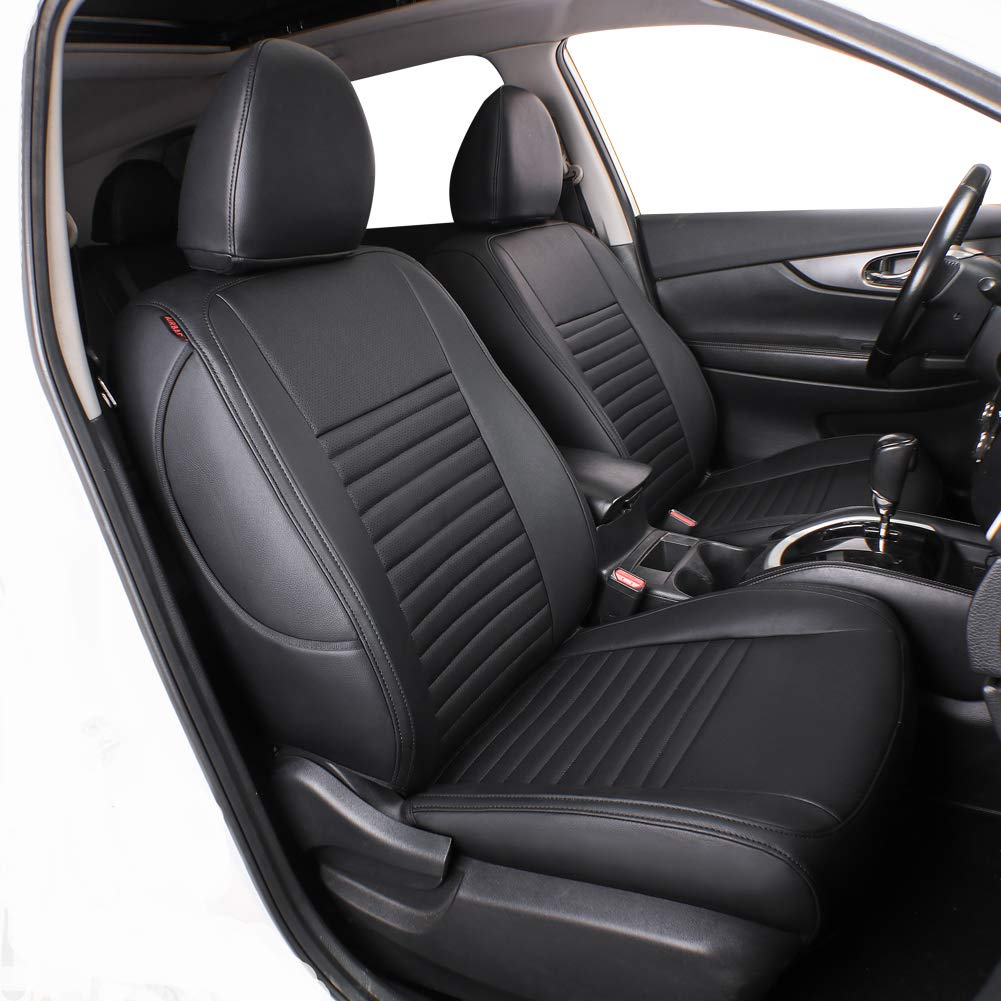 Leatherette Fia SL69-27 RED Custom Fit Front Seat Cover Split Seat 40//20//40 Black w//Red Center Panel
