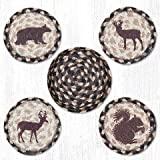 Brown/Black/Tan Woodland Creatures Round Coasters - Set of 5