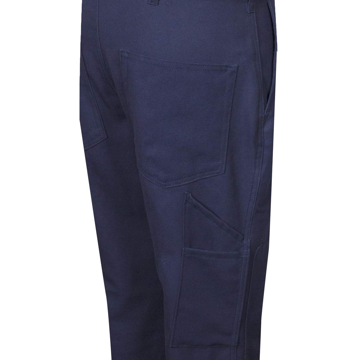 National Safety Apparel 38'' X 32'' Navy Duck 14 cal/cm Flame Resistant Pants With Zipper And Button Closure by NATIONAL SAFETY APPAREL INC (Image #1)