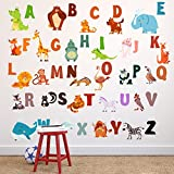Go Go Dragon - Extra Large ABC Wall Decals for Kids Rooms - Alphabet Wall Decal Letters - ABC Letter Wall Stickers - WDSET10018-A