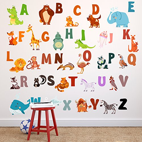 Go Go Dragon - Extra Large ABC Wall Decals for Kids Rooms - Alphabet Wall Decal Letters - ABC Letter Wall Stickers - WDSET10018-A by Go Go Dragon