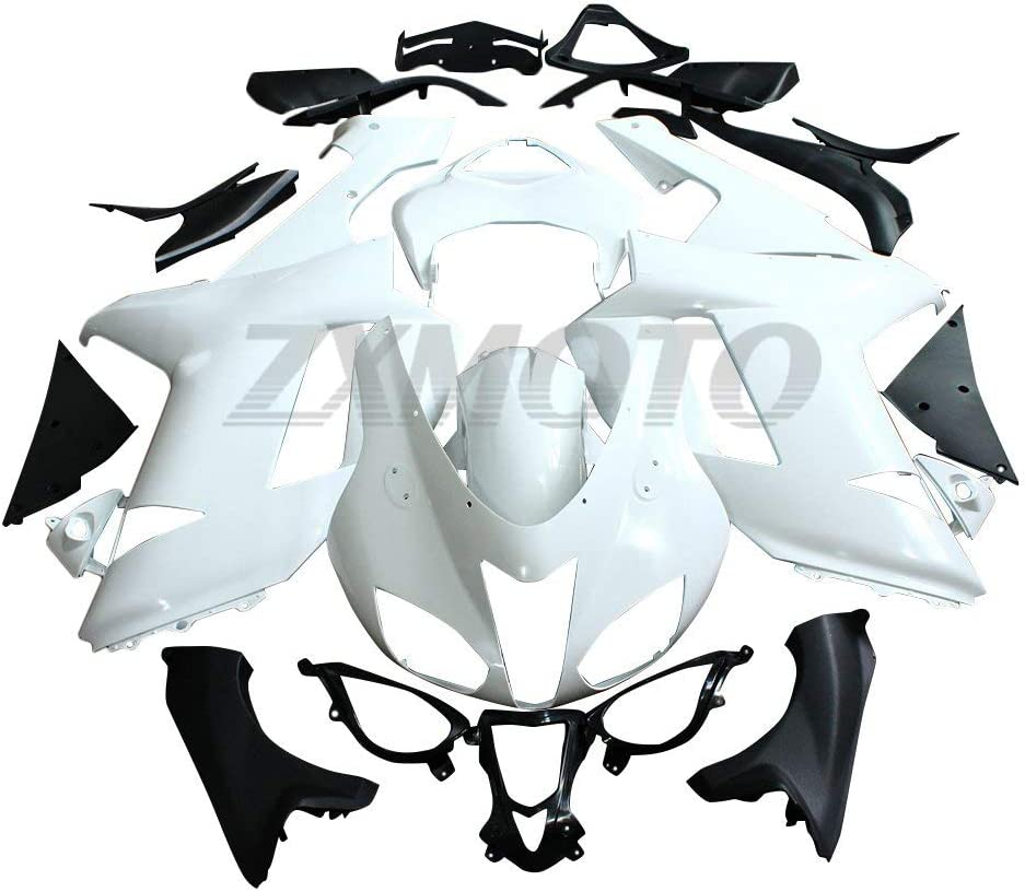 ZXMOTO Unpainted Motorcycle Fairing Kit for 2007 2008 Kawasaki Ninja ZX6R 636 Injection Mold ABS Plastic Bodywork Fairings