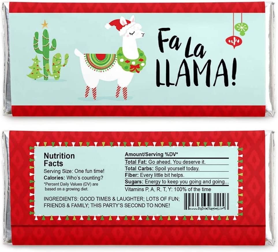 Cactus Christmas Wrappers and Foils Set of 24 Holiday Fiesta Treats Christmas Cactus Party Favors Merry Cactus Candy Bar Wrappers