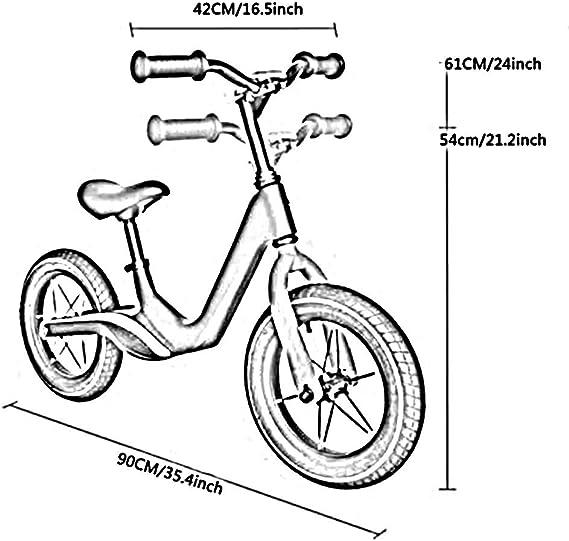 YUMEIGE Bicicletas sin Pedales Bicicleta Sin Pedales, aleación de ...