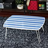 SED Small Table- Folding Table Wood-Based Panels Folded Waterproof Fashion Bed Table Short Side Table Save Space Dormitory Student Easy Lazy Bed Simple Home,3