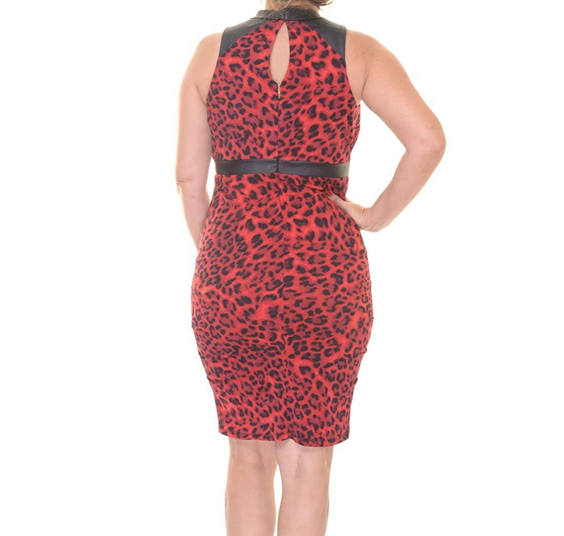 Thalia Sodi Womens Animal Print Halter Dress at Amazon Womens Clothing store: