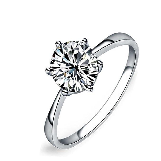 Amazon.com: gyoume joyas mujer anillo de compromiso anillo ...