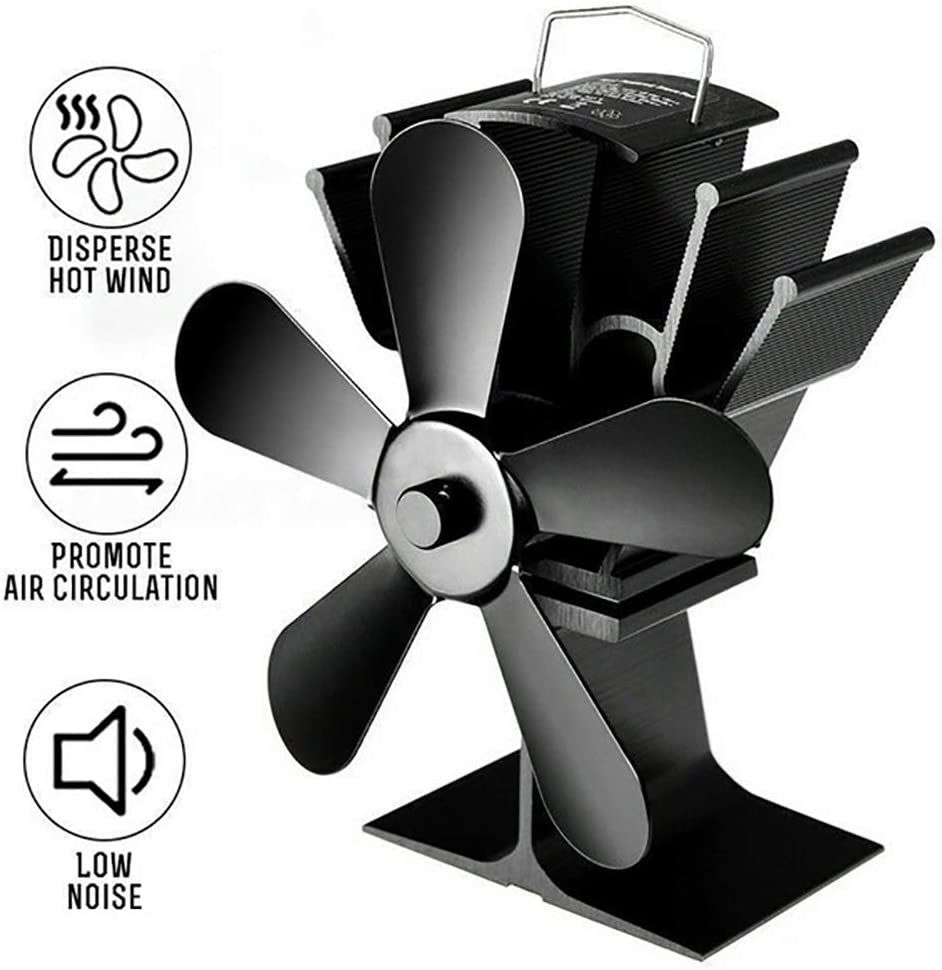 AGKupel Ventilador para estufa de leña, grande, 5 aspas ...