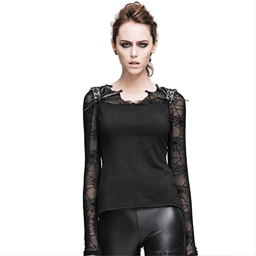 Devil Fashion Punk Gothic Women S See Through T Shirts Blouses