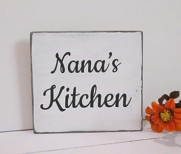 Amazon.com: rfy9u7 Nana - Placa decorativa de cocina rústica ...