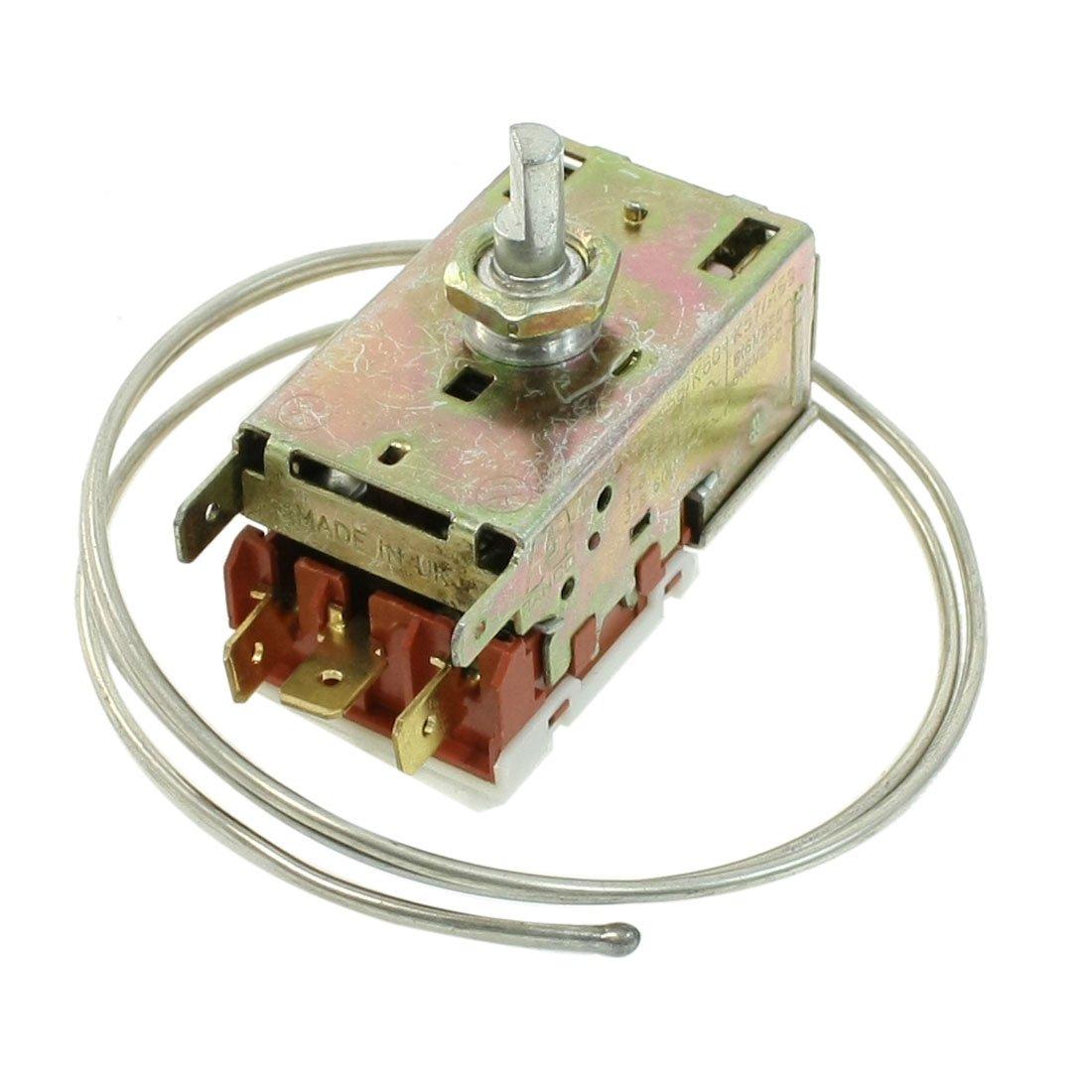 sourcingmap/® AC 250V 3A 3Pins Terminals K/ühlschrank Thermostat f/ür K/ühlschr/änke de