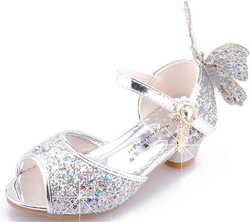 Chaussures Plates-Formes Enfant Ballerine Princesse Pailettes Chaussure Ceremonie Fille LOBTY Sandales Ceremonie Fille