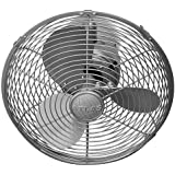 Matthews Fan Co. Atlas Kaye 13 Wall Mounted Fan Model MG-KC-BN in Brushed Nickel with Brushed Nickel Metal w/Safety Cag
