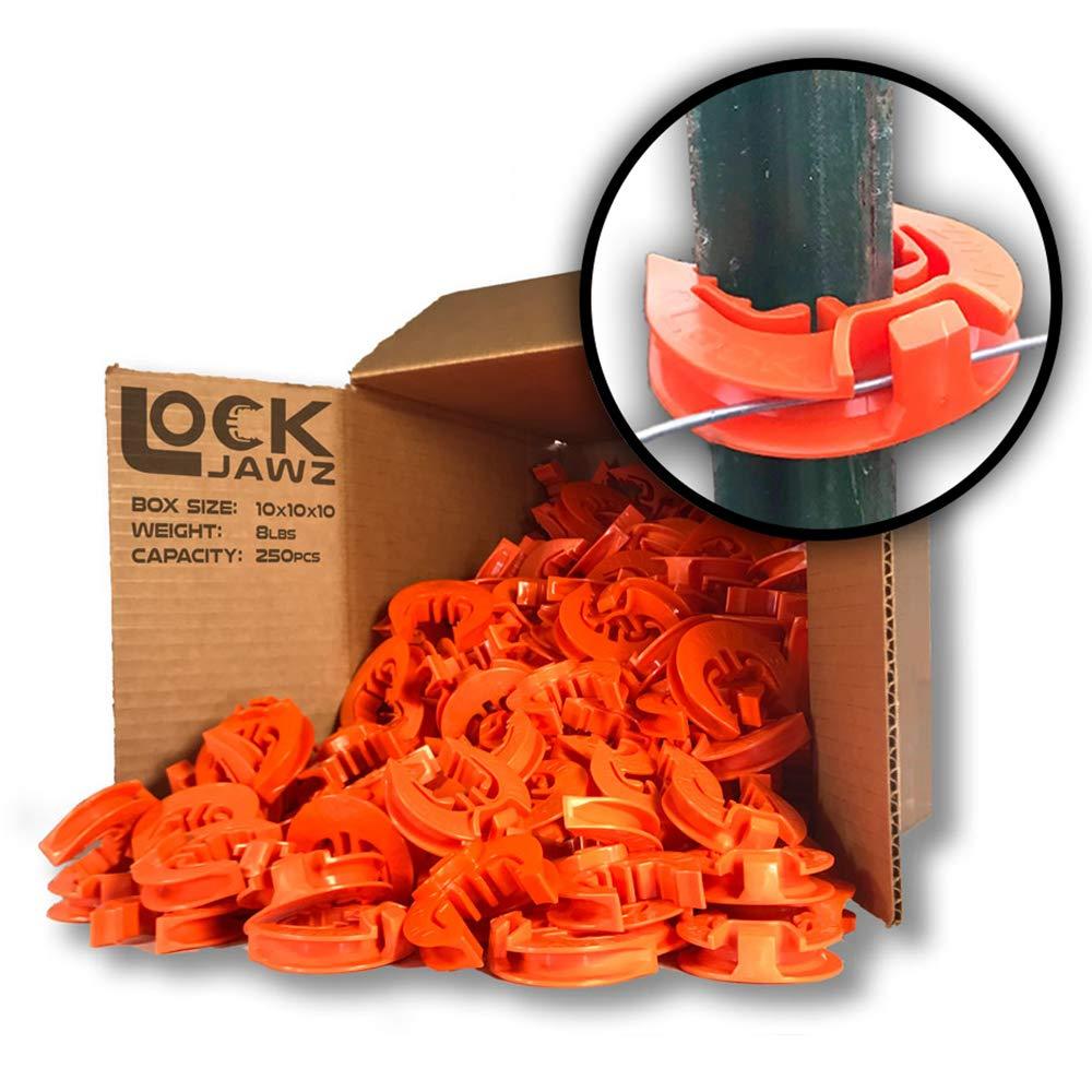 Lock Jawz T-360 Electric Fence T-Post Insulator - Orange (Bulk Qty: 250)