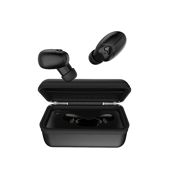 0d5782b9b6a Bluetooth 5.0 True Wireless Earbuds with Portable Charging Case – Jabees  Beebud Bluetooth Sports Earbuds with Mic – in-Ear Stereo Earphones for  Calls and ...