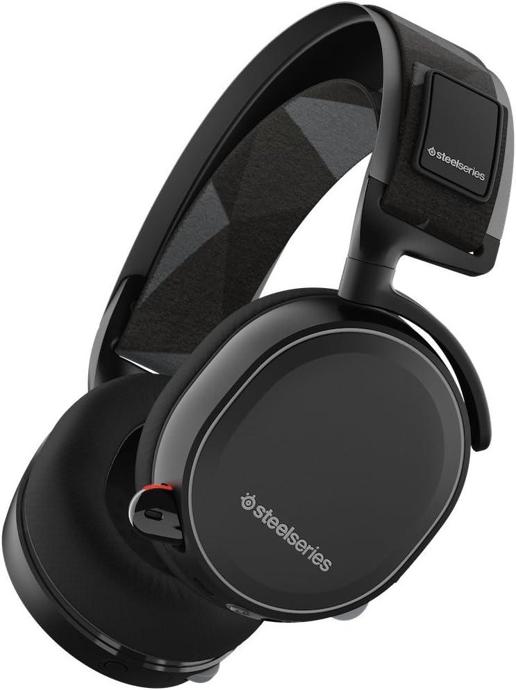 SteelSeries Arctis 7 (Edición Legado) - Auriculares para juego, Inalámbrico, DTS 7.1 Surround para PC, Mac, PlayStation 4, Móvil, VR, color Negro