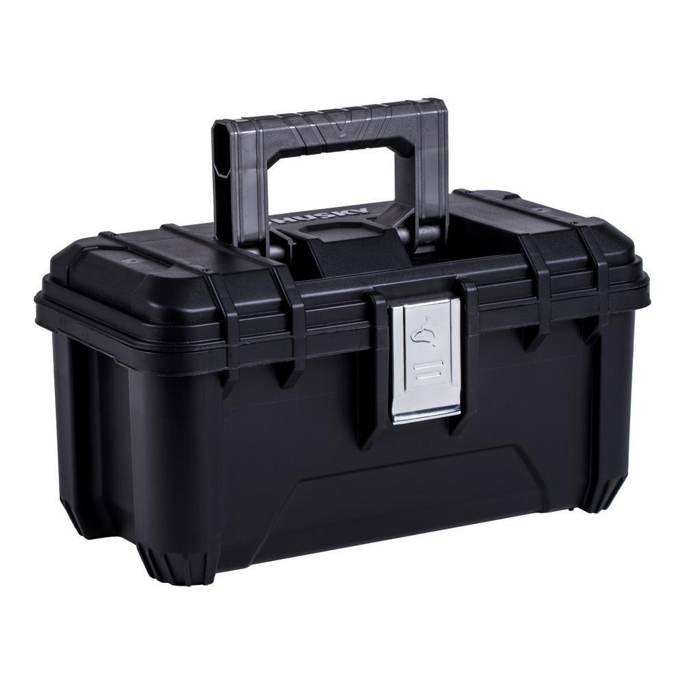 ハスキー16 in。プラスチックツールボックスwithメタルラッチinブラック B07BBCWCC3