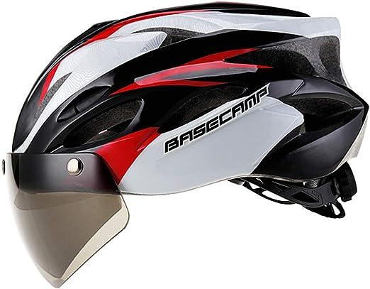 TTBF Casco para Bicicleta Profesión magnética con Gafas ...