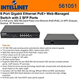 Intellinet 8-Port Gigabit Ethernet PoE+ Web-Managed Switch with 2 SFP Ports