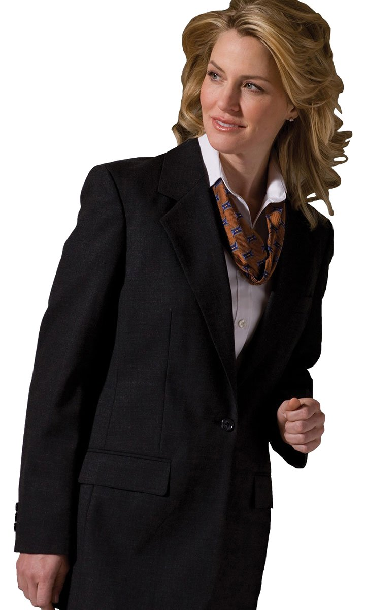 Edwards Garment Women's Classic One Button Single Breasted Coat_CHARCOAL_20