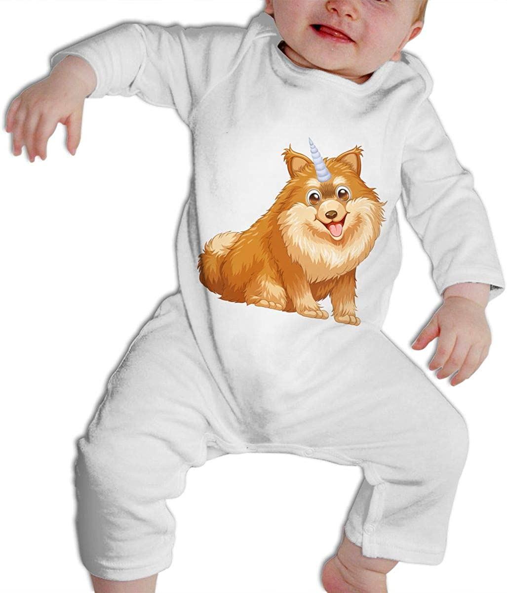 Mri-le1 Baby Boy Long Sleeve Jumpsuit Geometry Dachshund Baby Clothes