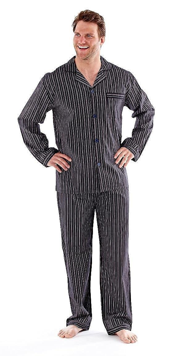 Gents Harvey James Poliéster / Algodón MN30 Pijamas Check or Stripe: Amazon.es: Ropa y accesorios