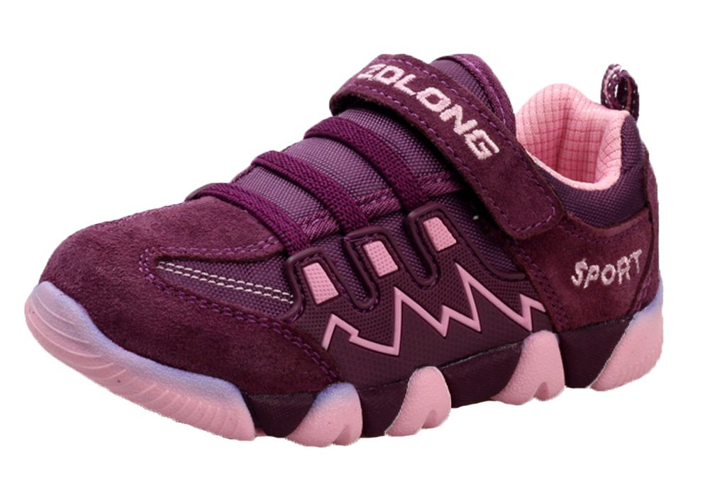 iDuoDuo Kids Casual Mesh Shoes Outdoor Athletic Trail Running Sports Sneakers Purple 13 M US Little Kid
