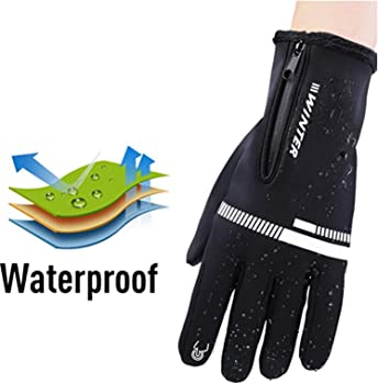 Details about  /Men Women Racing Cycling Winter Thermal Sports Touch Screen Waterproof