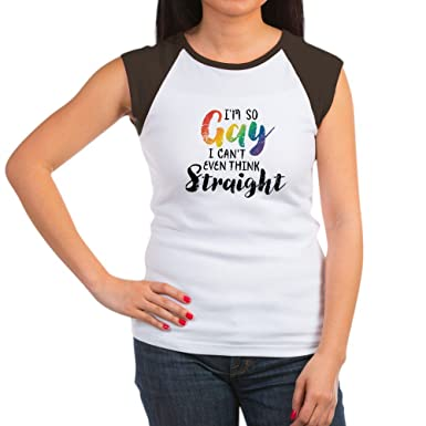 Cafepress So Gay Cant Think Str Womens Cap Sleeve