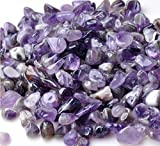 Bingcute 1 lb Natural Amethyst Tumble Stone About 10-15mm Length Each