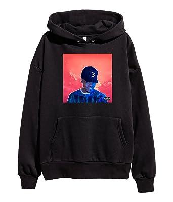 TShirtGuys Chance The Rapper Coloring Book Hoodie Hip Hop Acid Rap Hooded Sweatshirt Black Small