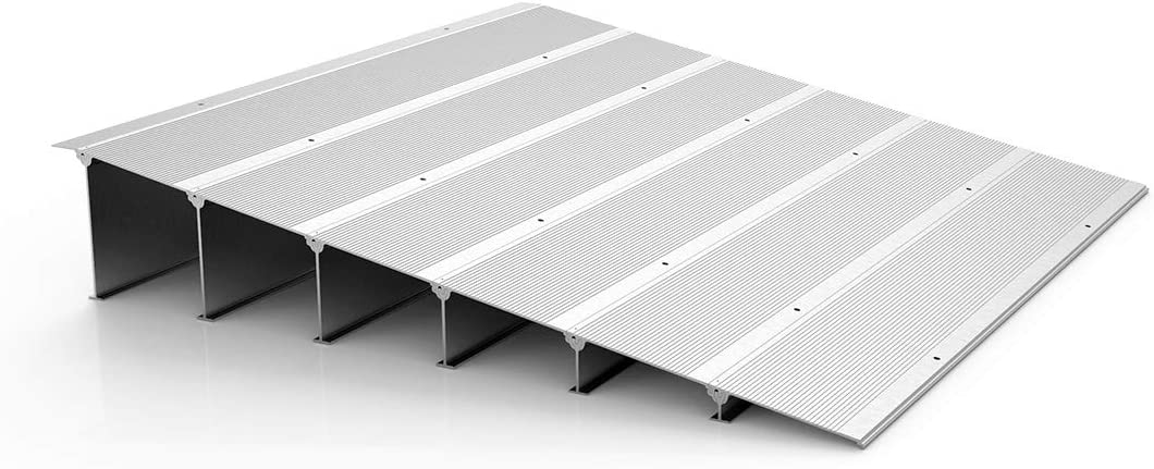 Aluminum Entry Ramp, Motorcycles Transitioning Doorways Thresholds, Threshold Ramp for Bicycles and Mobility Scooters, 6