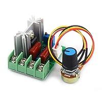 Akozon Regolatore di Tensione AC 50-220V 2000W SCR Velocita e Termostato Motor Controller Speed Controller LED Dimmer Regolabili Trasformatore Temperatura Regolatore di Velocità del Motore Dimmer