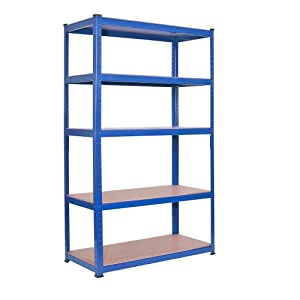 (1500 x 700 x 300)mm heavy duty boltless metal steel shelving shelves storage unit Industrial