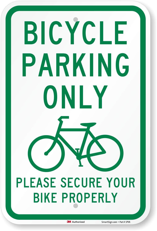 Bicicleta Aparcamiento sólo por favor seguro tu bicicleta ...