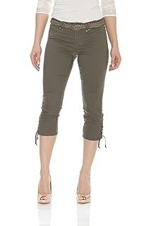 0a5444d112 Suko Jeans Women s Capri Pants - Power Stretch - Flattering - Braided Belt