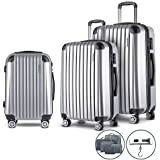 Wanderlite 20'' 28'' Hard Shell Suitcase Small and Large Lightweight Roller Luggage Case, White