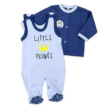 65a928b0dc Baby Sweets Baby Set Strampler + Shirt Jungen blau   Motiv: Little Prince    Babyset
