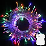 PMS 50/100/200/300/400/500 LED Battery Power Operated String Fairy Lights Christmas Xmas Party (Multi, 100 LEDs)