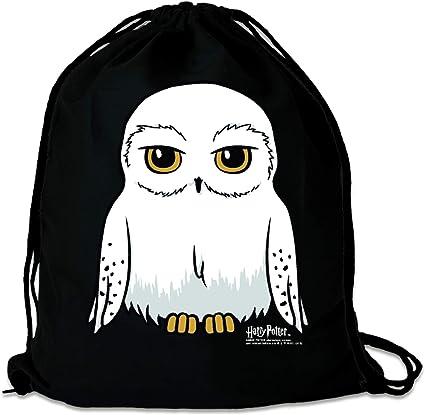 Logoshirt - Harry Potter - Lechuza - Hedwig - Mochila Saco - Bolsa - negro - Diseño original con licencia