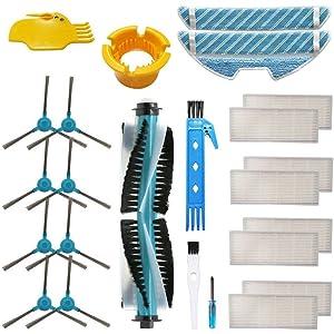 KEEPOW Kit de 2 Cepillos Principales de Recambio para Cecotec Conga Excellence 1290//1390 Robot Aspiradora