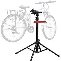 Amzdeal Pied d'Atelier pour Vélo VTT Réparation Hauteur Réglable 115cm-170cm, Support Stand de Réparation Pivotant jusqu'à 360°