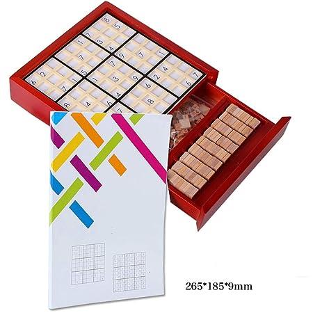 EXCLVEA Madera Rompecabezas del número Juegos de Mesa Sudoku Juego ...