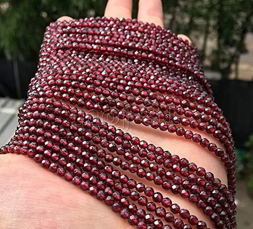(FidgetFidget 4mm Genuine Natural Faceted Brazil Red Ruby Gemstone Round Loose Beads 15
