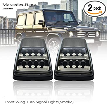 Smoke LED Front Wing Signal Lights Side Marker Lamps For Benz W463 G500 G55 G550