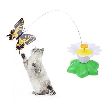 Prologfer Lustige Katzen-, drehbar, Teaser-Spielzeug, mit Stahldraht ...
