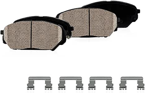 CPK11773 FRONT Performance Grade Quiet Low Dust [4] Ceramic Brake Pads + Dual Layer Rubber Shims + Hardware