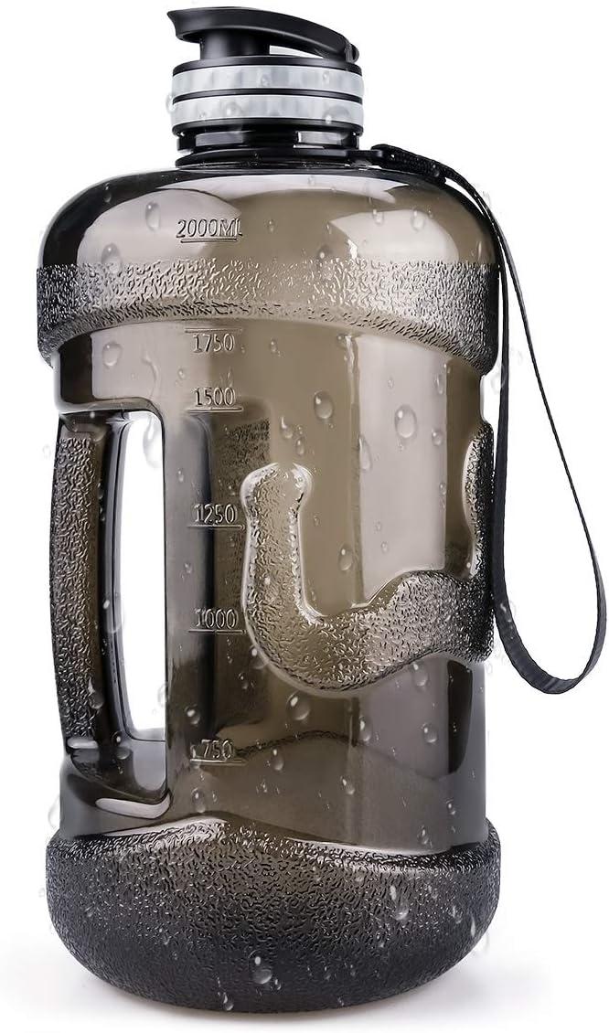 Achort Botella de Agua de 2.2L Jarra Duradera y Extra Fuerte, a Prueba de Fugas, a Prueba de Fugas Jarra de Agua Grande sin BPA con asa Ideal para Gimnasio al Aire Libre